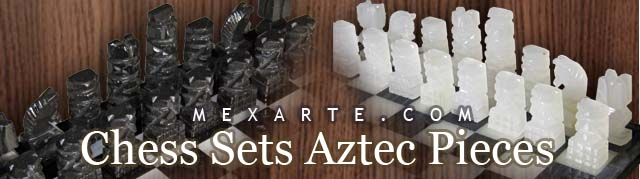 Chess Sets aztec Pieces,Wholesale from Mexico, Mexican products wholesale, Wholesale Mexican arts and crafts, Mexican handcrafts wholesale, preColumbian replicas, Wholesale Mexican pottery, Wholesale Mexican ceramics, Maya art replicas, Aztec art replicas, Traditional Mexican arts and crafts